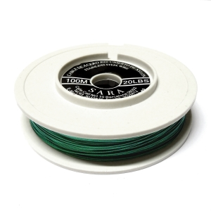Nylon Coated Stainless Steel Wire 0.45mm (20 Lbs) - Green