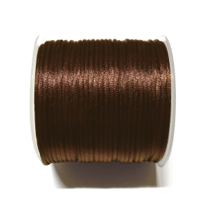 Satin Cord 2mm - Dark Brown