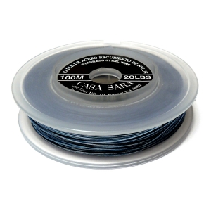 Nylon Coated Stainless Steel Wire 0.45mm (20 Lbs) - Blue