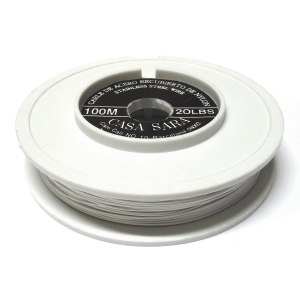 Nylon Coated Stainless Steel Wire 0.45mm (20 Lbs) - White