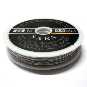 Cable Acero Recubierto De Nylon 0.8mm (40 Lbs) - Acero