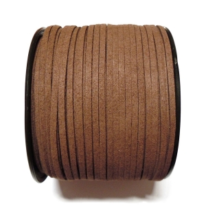 Imitation Flat Suede Cord 3mm - Dark Brown 3