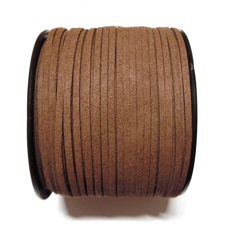 Imitation Flat Suede Cord 3mm - Dark Brown 3