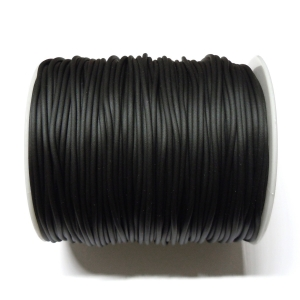 Rubber Cord 2mm - Black