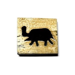 Elephant Squared Horn Bead