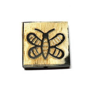 Butterfly Squared Horn Bead