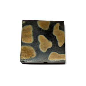 Leopard Squared Horn Bead