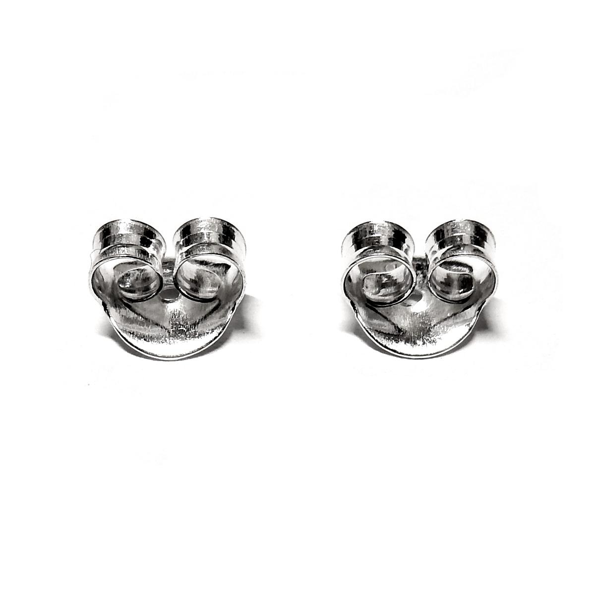 Silver Large Earring Clutch