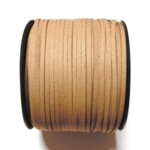 Imitation Flat Suede Cord 3mm - Light Brown 50