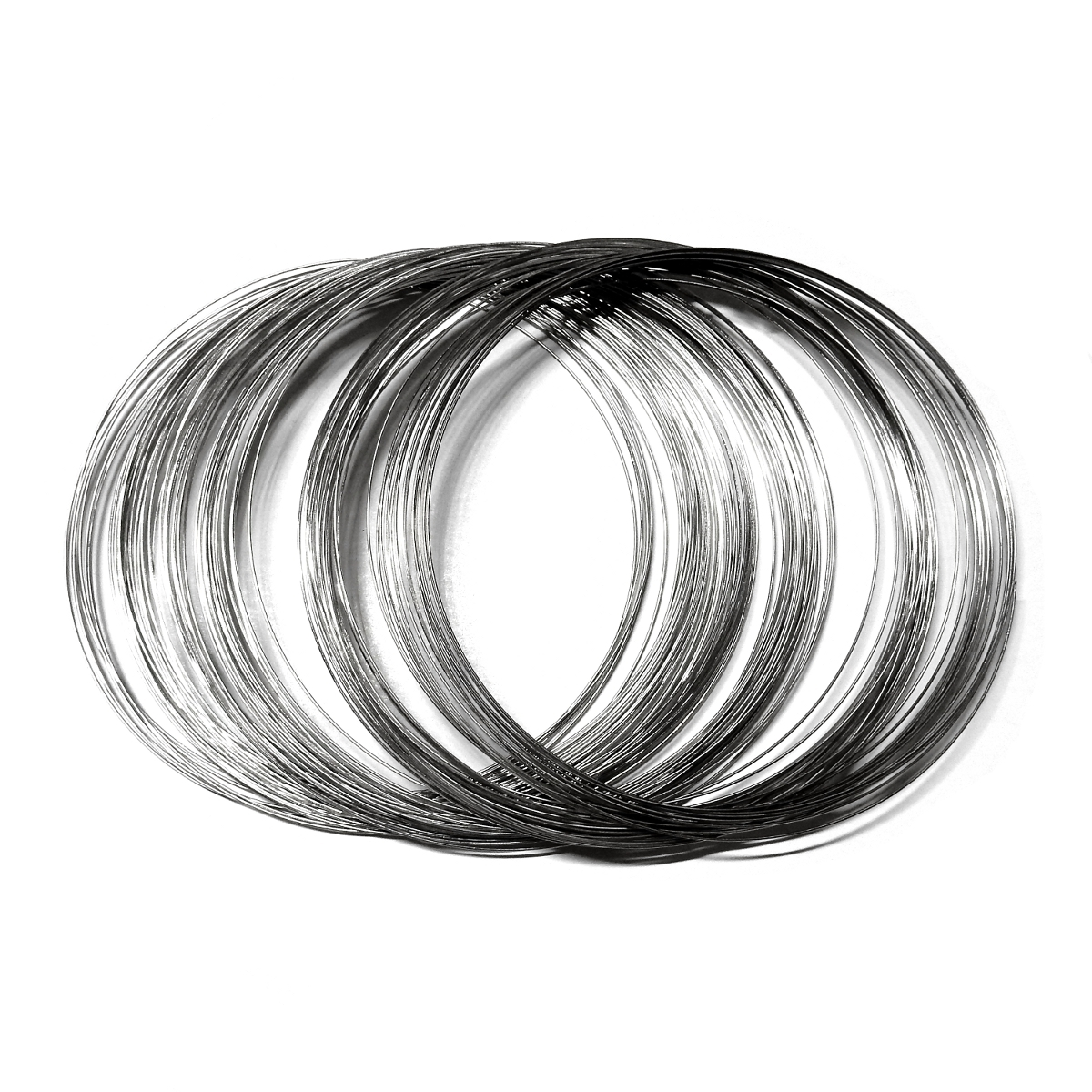 Steel Memory Wire 0.6mm - Necklace - Sara