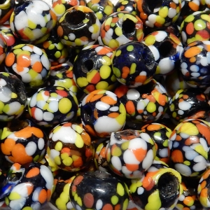Glass Bead Mix - Spotted Beads