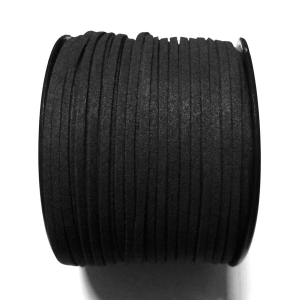 Imitation Flat Suede Cord 3mm - Black 1