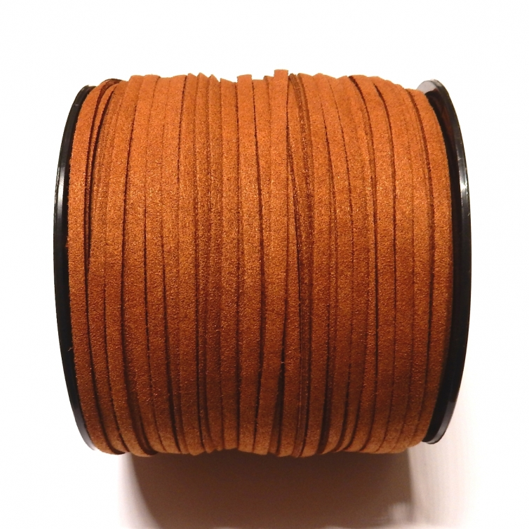 Imitation Flat Suede Cord 3mm - Brown 30