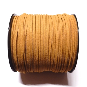 Imitation Flat Suede Cord 3mm - Light Brown 25