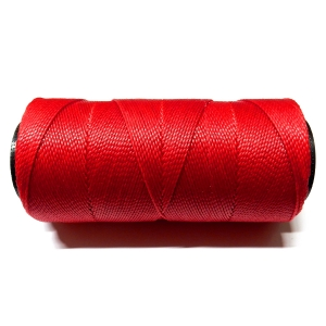 Polyester Brazilian Waxed 1mm - Red 0025