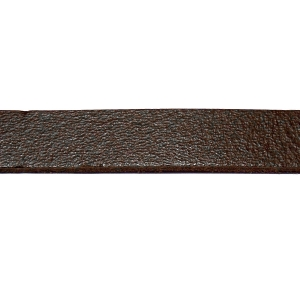 Flat Leather Cord 10mm - Antique Dark Brown