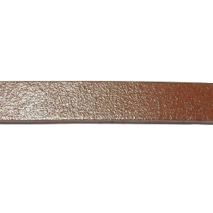 Flat Leather Cord 10mm - Tan