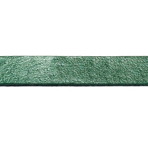 Flat Leather Cord 10mm - Ocean Green