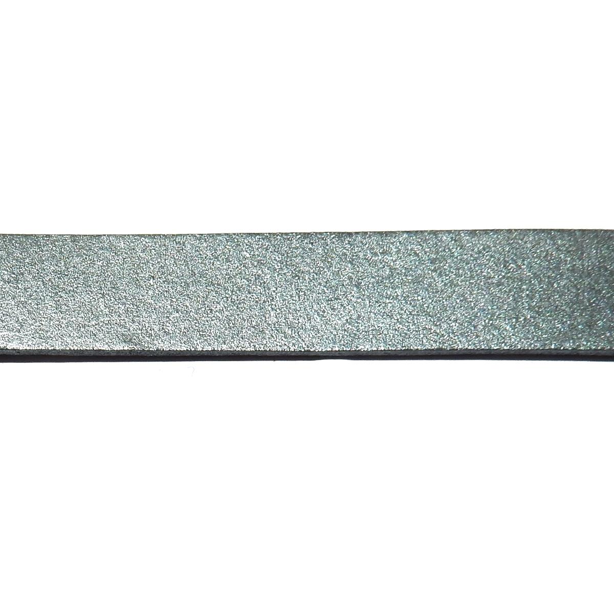 Flat Leather Cord 10mm - Dark Grey