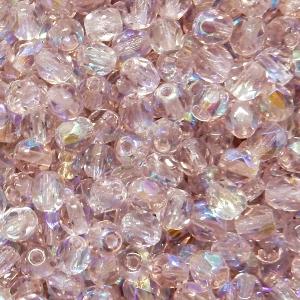 Bola Cristal Facetada 4mm - Lila Claro 2 Transparente Con AB