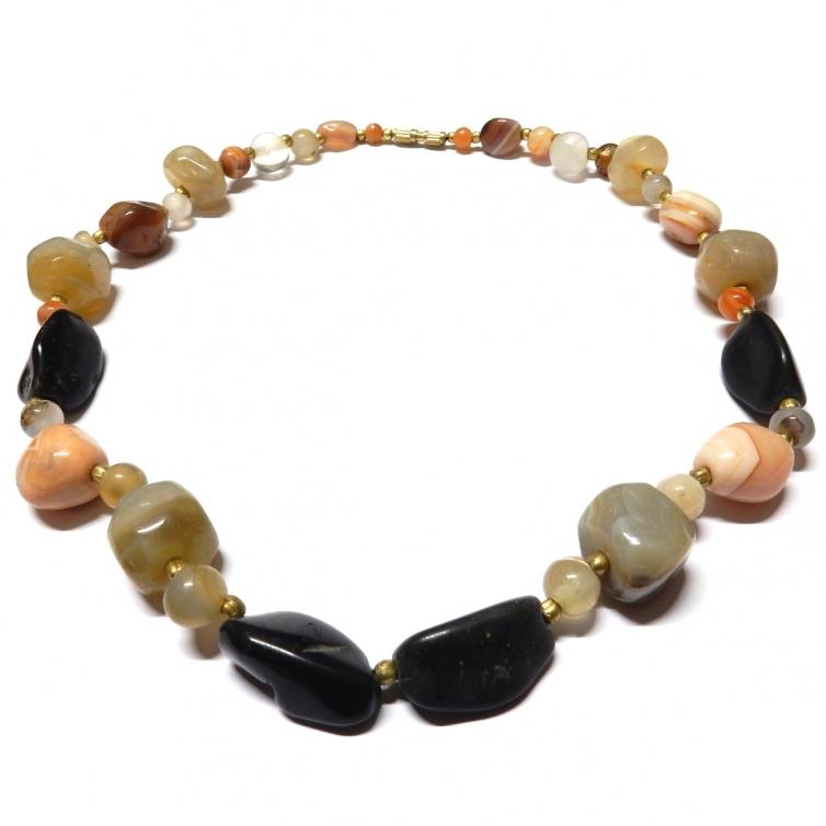 Agates Necklace 45Cm