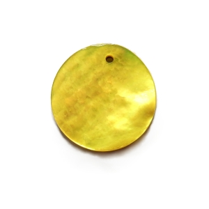 Nacre Disc 20mm - Yellow AGB-63