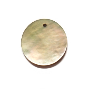 Nacre Disc 20mm - Natural