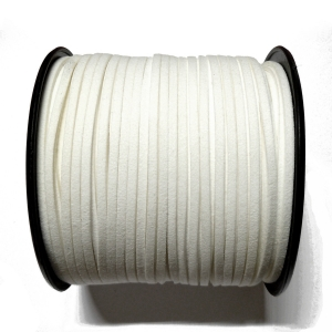 Imitation Flat Suede Cord 3mm - White 7