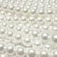 Perla Cristal Redonda 10mm - Color Blanco
