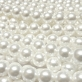 Round Glass Pearls 10mm - White Colour