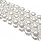 Round Glass Pearls 12mm - White Colour