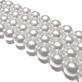 Perla Cristal Redonda 12mm - Color Gris Claro
