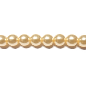 Round Glass Pearls 8mm - Cream Colour