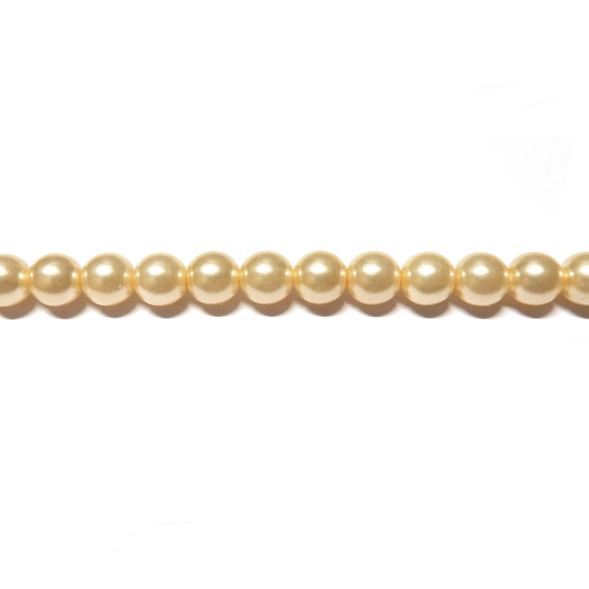 Round Glass Pearls 4mm - Cream Colour