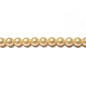 Round Glass Pearls 5mm - Cream Colour