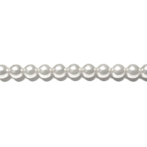 Round Glass Pearls 5mm - White Colour