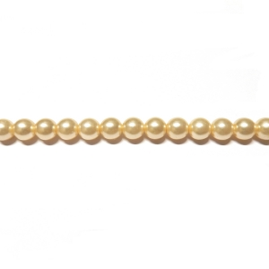 Round Glass Pearls 3mm - Cream Color