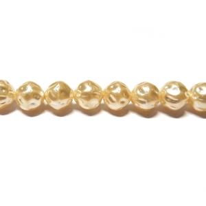 Baroque Glass Pearl 8mm - Cream Colour