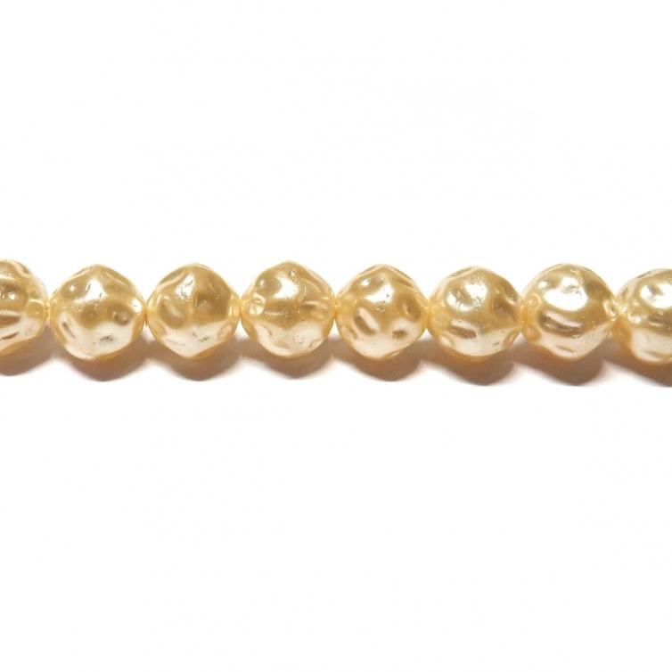 Perla Cristal Barroca 8mm - Color Crema