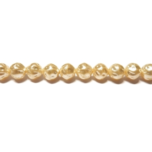 Baroque Glass Pearl 6mm - Cream Colour