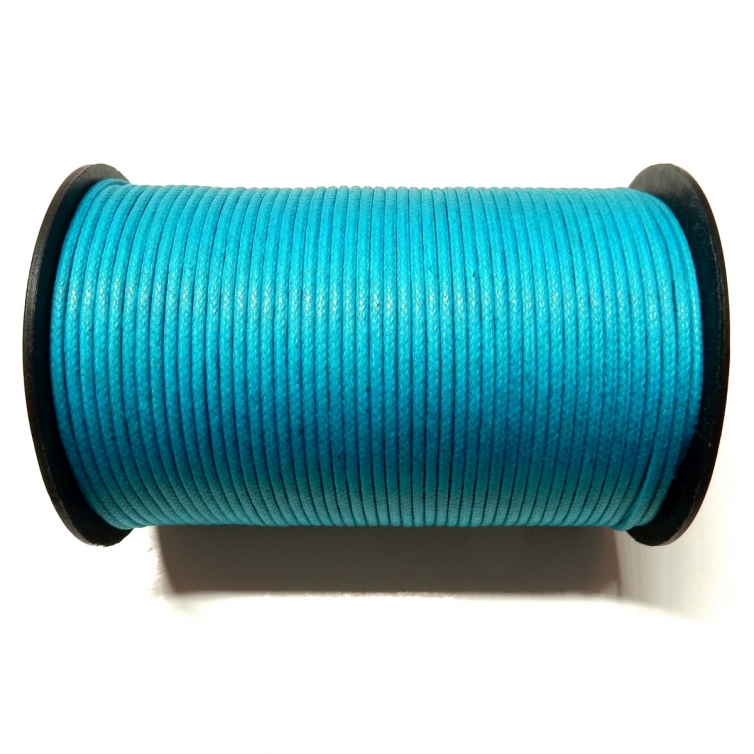 Cotton Waxed Cord 2mm - Turquoise 108