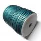 Flat Leather Cord 3mm - Metallic Turquoise
