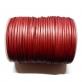 Flat Leather Cord 3mm - Metallic Red