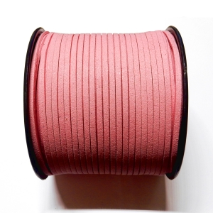Imitation Flat Suede Cord 3mm - Pink 14