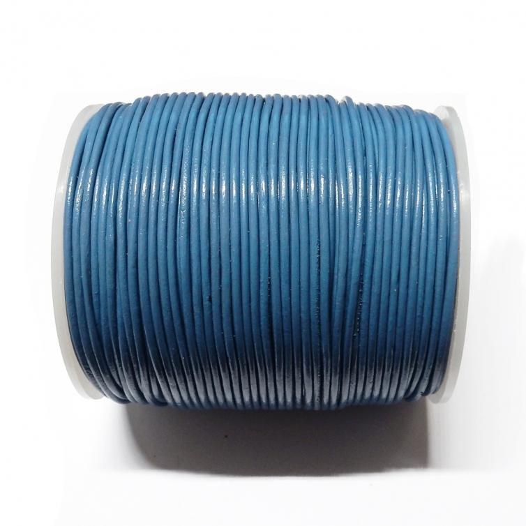 Cordon Cuero 1.5mm - Azul 124