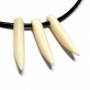 Bone Curved 39mm Tusk