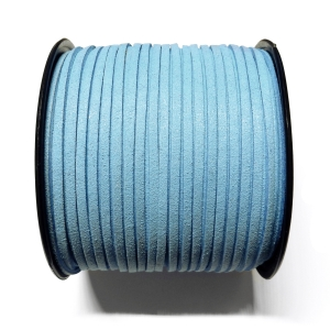Imitation Flat Suede Cord 3mm - Light Blue 48
