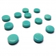 Glass Pill Shaped Bead 8x3mm - Opaque Turquoise