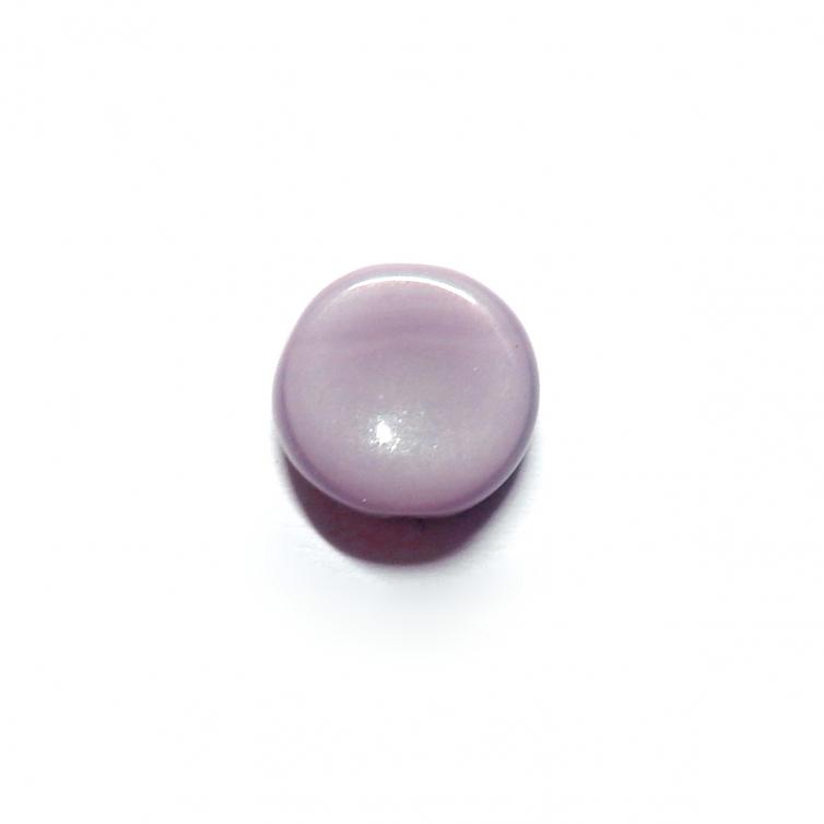 Glass Pill Shaped Bead 8x3mm - Opaque Purple