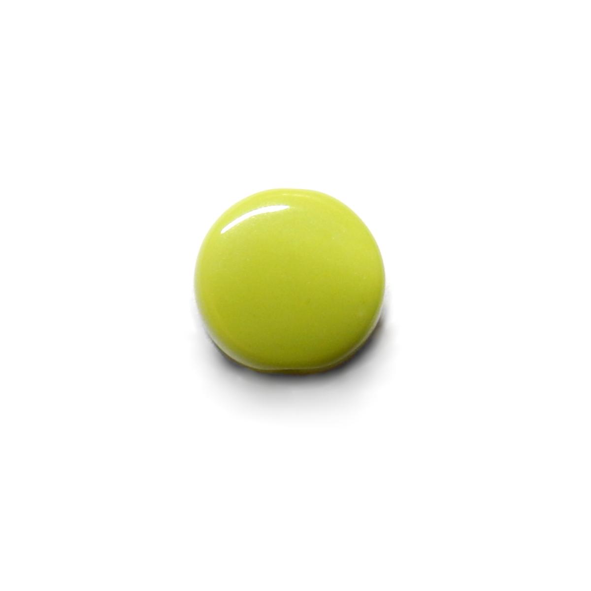Glass Pill Shaped Bead 8x3mm - Opaque Green